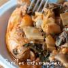 Saucisses blanches curry bettes ail des ours 01